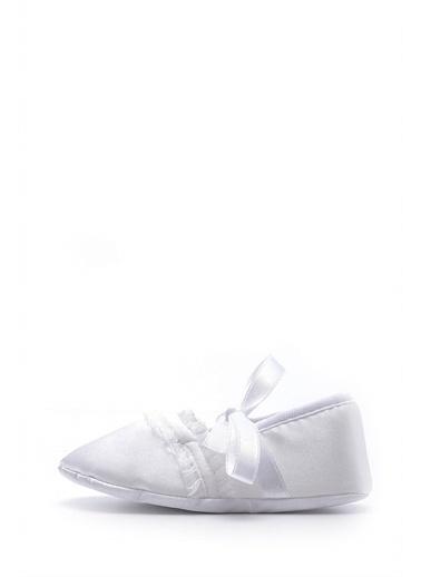First Step Beyaz Bebek Patiği-F-118 Beyaz
